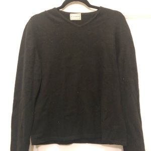 Sweaters - Solid Black Cashmere Sweater